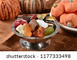 a silver candy dish with... | Shutterstock . vector #1177333498