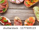 brushetta or traditional... | Shutterstock . vector #1177335115