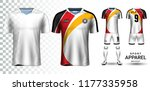 soccer jersey and football kit... | Shutterstock .eps vector #1177335958