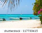 Tropical Beach Of Island Gran...