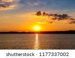 Sunset On A Oklahoma Lake.