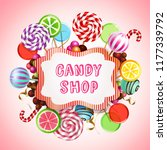 candy shop composition with... | Shutterstock .eps vector #1177339792