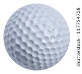 Golf ball isolated with clippin ...