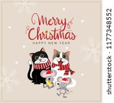 merry christmas and happy new... | Shutterstock .eps vector #1177348552