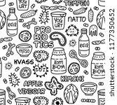probiotics bacteria  food and... | Shutterstock .eps vector #1177350652