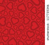 bright love red heart seamless... | Shutterstock .eps vector #117735346