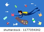 stop plastic pollution. reduce  ... | Shutterstock .eps vector #1177354342