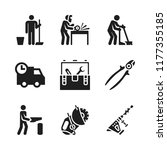 manual icon. 9 manual vector... | Shutterstock .eps vector #1177355185