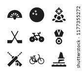 competition icon. 9 competition ... | Shutterstock .eps vector #1177355272