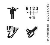 manual icon. 4 manual vector... | Shutterstock .eps vector #1177357768