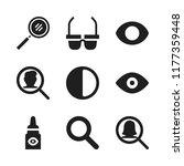 eyesight icon. 9 eyesight... | Shutterstock .eps vector #1177359448