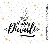 happy diwali. typography. logo... | Shutterstock .eps vector #1177359832