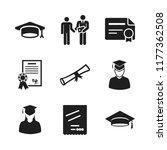 diploma icon. 9 diploma vector...   Shutterstock .eps vector #1177362508