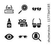 eyesight icon. 9 eyesight... | Shutterstock .eps vector #1177364185