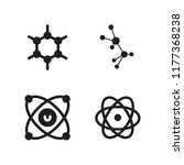 atom icon. 4 atom vector icons... | Shutterstock .eps vector #1177368238