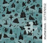 halloween holiday seamless... | Shutterstock .eps vector #1177370512