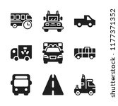 highway icon. 9 highway vector... | Shutterstock .eps vector #1177371352