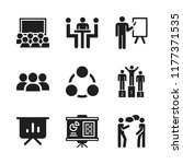 discussion icon. 9 discussion... | Shutterstock .eps vector #1177371535