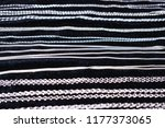 silver chains on a black... | Shutterstock . vector #1177373065