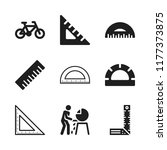 angle icon. 9 angle vector...   Shutterstock .eps vector #1177373875