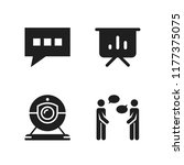 discussion icon. 4 discussion... | Shutterstock .eps vector #1177375075