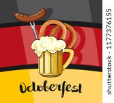 oktoberfest beer festival.... | Shutterstock .eps vector #1177376155