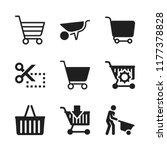 cart icon. 9 cart vector icons... | Shutterstock .eps vector #1177378828