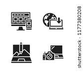 wireless icon. 4 wireless...   Shutterstock .eps vector #1177380208