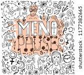 menopause lettering on creative ... | Shutterstock .eps vector #1177382665