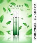 green tea spray toner ads with... | Shutterstock .eps vector #1177386145