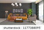 interior of the living room. 3d ... | Shutterstock . vector #1177388095