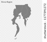high quality map of davao... | Shutterstock .eps vector #1177391272
