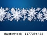 vector merry christmas and... | Shutterstock .eps vector #1177396438
