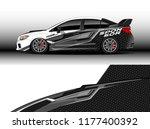car wrap graphic vector.... | Shutterstock .eps vector #1177400392