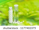 homeopathy medicine   closeup... | Shutterstock . vector #1177402375