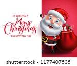 santa claus vector character... | Shutterstock .eps vector #1177407535