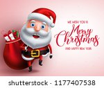 mery christmas greeting with... | Shutterstock .eps vector #1177407538