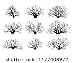 vector image bushes without... | Shutterstock .eps vector #1177408972