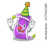 clown magic carpet with a... | Shutterstock .eps vector #1177412185