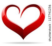 heart love symbol illustration | Shutterstock . vector #117741256