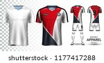 soccer jersey and football kit... | Shutterstock .eps vector #1177417288