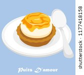 the graphic of a french pastry... | Shutterstock .eps vector #1177418158
