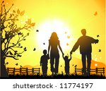 happy family walks on nature ...   Shutterstock .eps vector #11774197