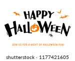 happy halloween. vector... | Shutterstock .eps vector #1177421605