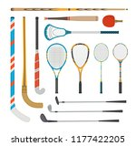 a set of different sports... | Shutterstock .eps vector #1177422205