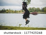 young beautiful and mysterious... | Shutterstock . vector #1177425268
