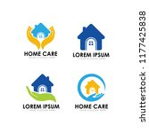 home care logo design template | Shutterstock .eps vector #1177425838