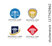 attorney and justice law logo... | Shutterstock .eps vector #1177425862
