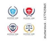 justice law emblem logo design... | Shutterstock .eps vector #1177425865