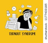 mental health. burnout syndrome.... | Shutterstock .eps vector #1177433185